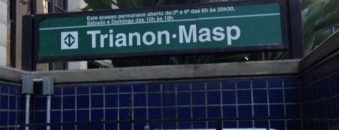 Estação Trianon-Masp (Metrô) is one of São Paulo ABC, Bares/Cafés, Restaurantes Shoppings.