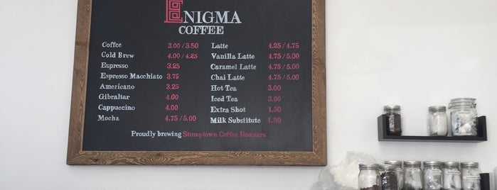 Enigma Coffee is one of LA | Beverly / Weho.