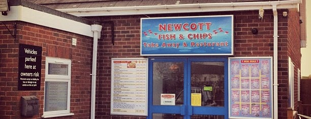 Newcott Services - Fish & Chips is one of Truckstops And Other Places To Park Overnight.