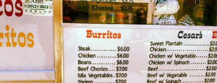 Cesar's Empanadas is one of The 15 Best Food Trucks in Brooklyn.