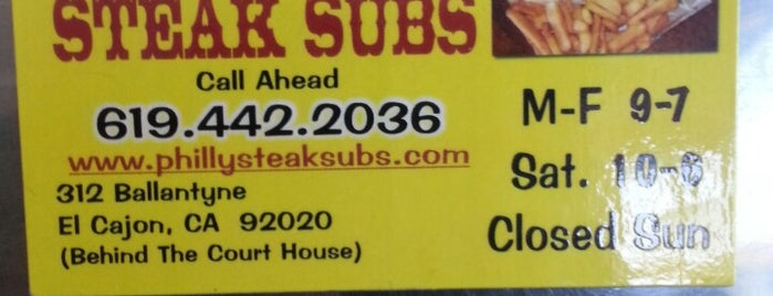 Philly Steak Subs is one of FOOD.