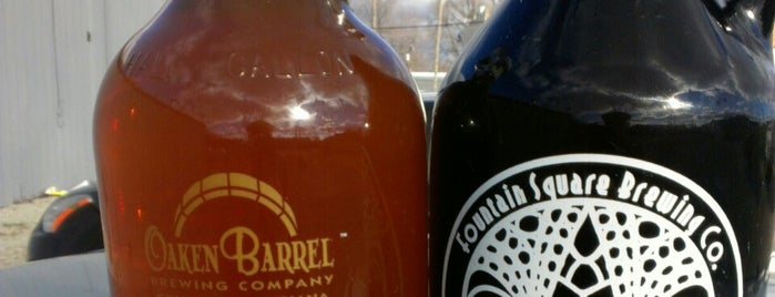 Fountain Square Brewing Company is one of Growler fill spots in Indy.