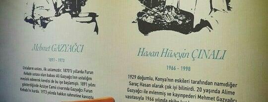 Gazyağcı Furun Kebabı 1891 is one of Konya'da Café ve Yemek Keyfi.