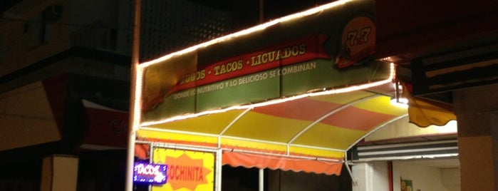 7x7 Jugos, Tacos y Licuados is one of Mexico // Cancun.