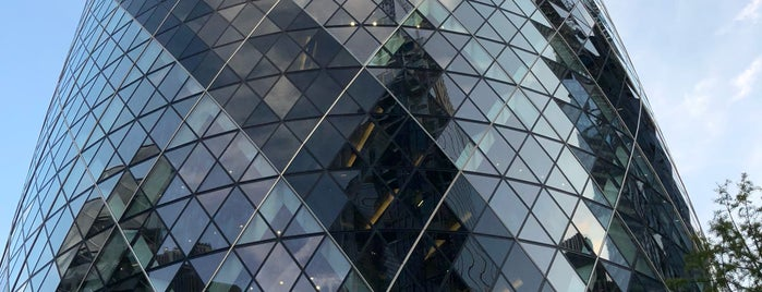 30 St Mary Axe (The Gherkin) is one of London calling.