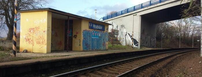 Železniční zastávka Hrabišín is one of Železniční stanice ČR: H (3/14).