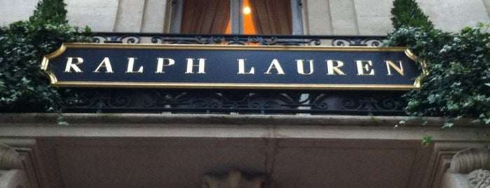 Ralph Lauren is one of Paris, FR.