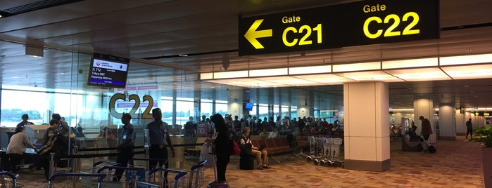 Gate C22 is one of SIN Airport Gates.