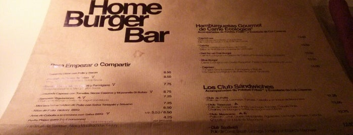 Home Burger is one of Comer en Madrid.