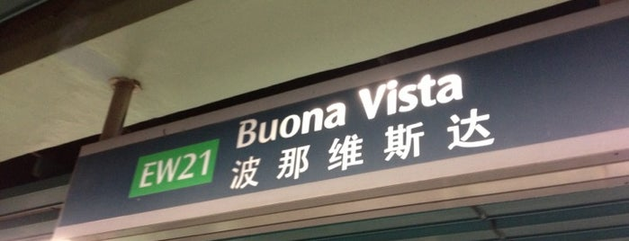 Buona Vista MRT Interchange (EW21/CC22) is one of MRT: East West Line.