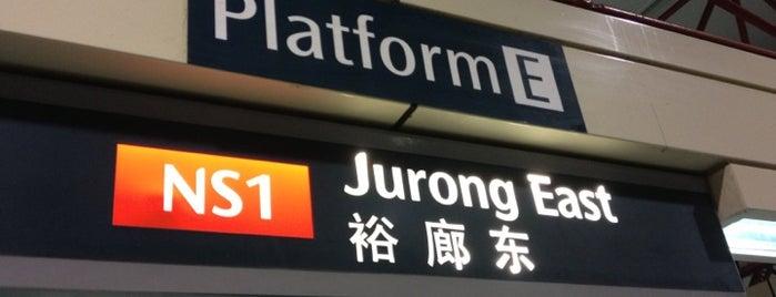 Jurong East MRT Interchange (NS1/EW24) is one of MRT: East West Line.