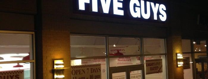 Five Guys is one of Top 10 restaurants when money is no object.