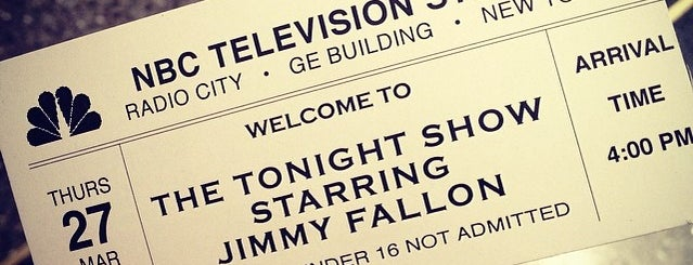 The Tonight Show starring Jimmy Fallon is one of Bucket List ☺.