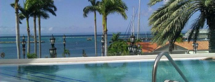 Blue is one of Aruba.