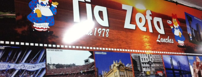 Tia Zefa Lanches is one of Burgers in Porto Alegre.