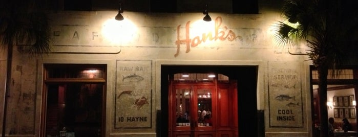Hank's Seafood is one of Favorites in Charleston.