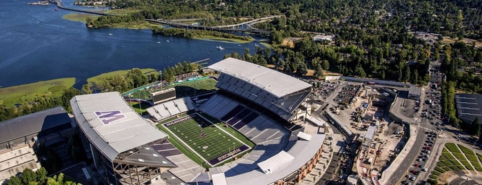 Alaska Airlines Field at Husky Stadium is one of Pac-12 Football.