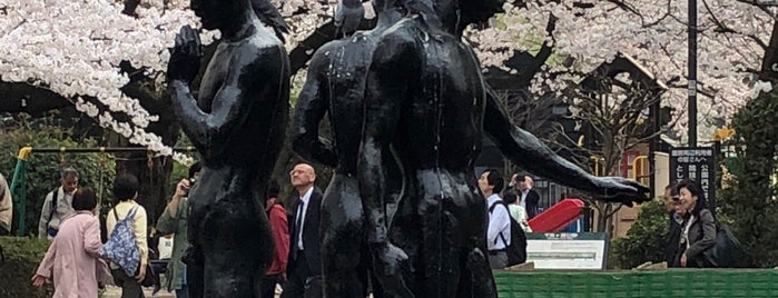 自由の群像 is one of 東京銅像MAP.