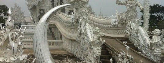Wat Rong Khun is one of Holy Places in Thailand that I've checked in!!.