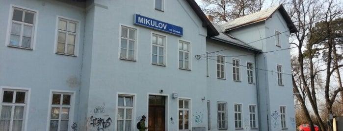 Železniční stanice Mikulov na Moravě is one of Železniční stanice ČR: M (7/14).