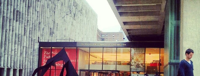 New York Public Library for the Performing Arts (LPA) is one of B. Locations.