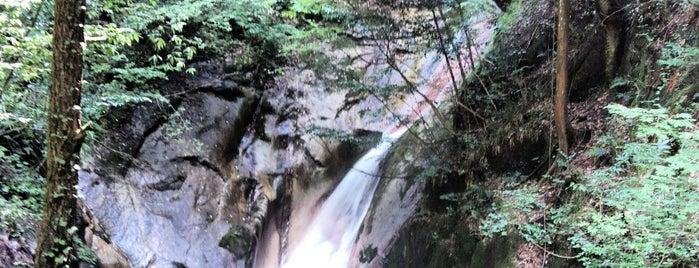 寂地峡 案内所 is one of 日本の滝百選.