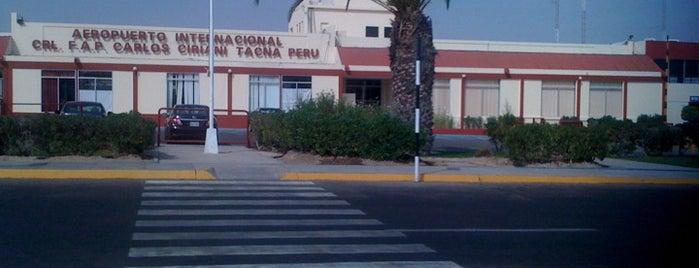 Aeropuerto Internacional Coronel FAP Carlos Ciriani Santa Rosa (TCQ) is one of Checkin/Checkout.