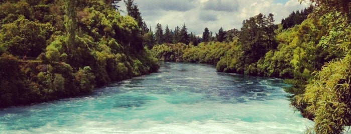 Huka Falls is one of New Zealand Highlights.