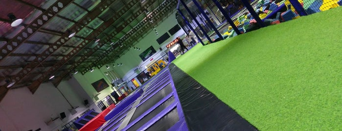 Amped Trampoline Park is one of Yeti Trail Adventure.
