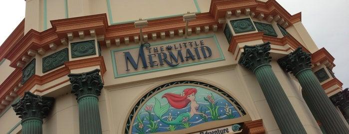 The Little Mermaid ~ Ariel's Undersea Adventure is one of FamilyFun's Top Amusement Park Rides.