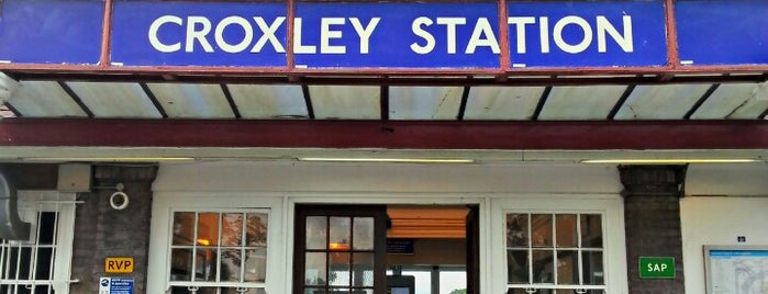 Croxley London Underground Station is one of Tube Challenge.