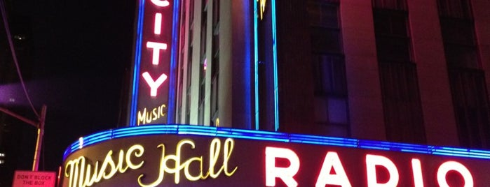 Radio City Music Hall is one of NYC.