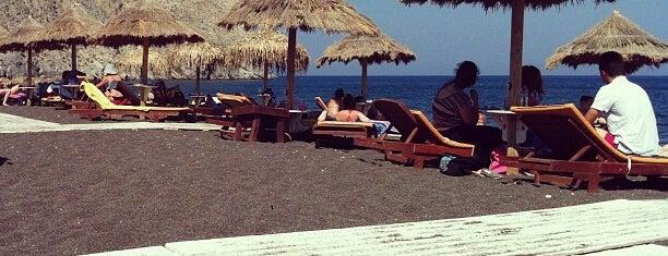 Perissa Beach is one of Santorini.