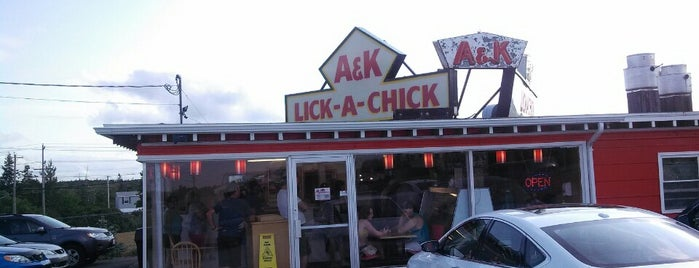 A&K  Lick a Chick is one of 20 favorite restaurants.