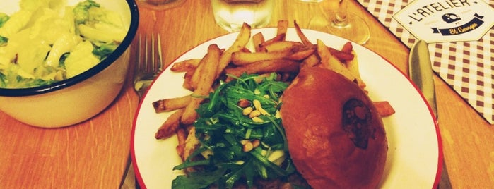 L'Atelier Saint-Georges is one of Best Burger in Paris.
