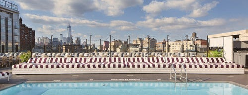 Soho House is one of The Coolest Hotel Pools in NYC.