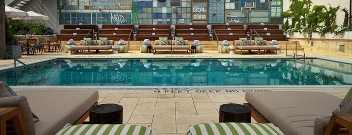 McCarren Hotel & Pool is one of The Coolest Hotel Pools in NYC.