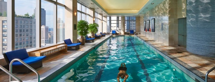 Mandarin Oriental is one of The Coolest Hotel Pools in NYC.