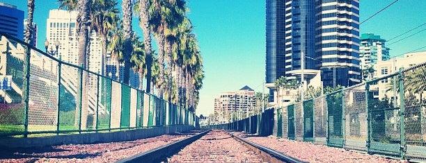 Gaslamp Quarter Trolley Station is one of San Diego.