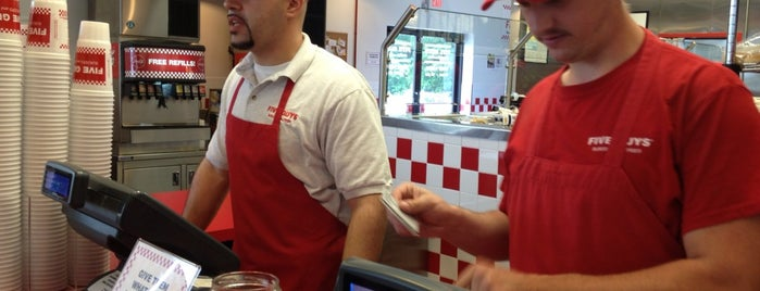 Five Guys is one of just a list of places.