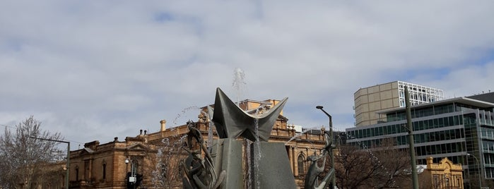 Victoria Square Fountain is one of Radelaide.