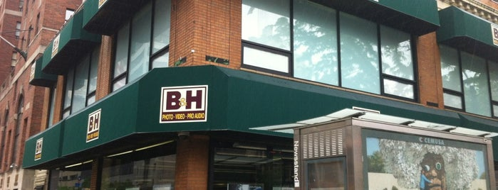 B&H Photo Video is one of NYC Manhattan 14th-65th Sts & Central Park.