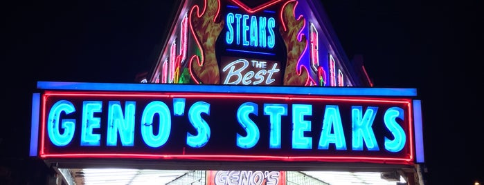 Geno's Steaks is one of Pennsylvania Food.