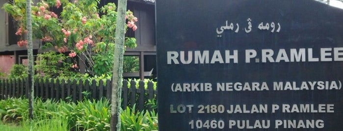 P. Ramlee's House is one of George Town.