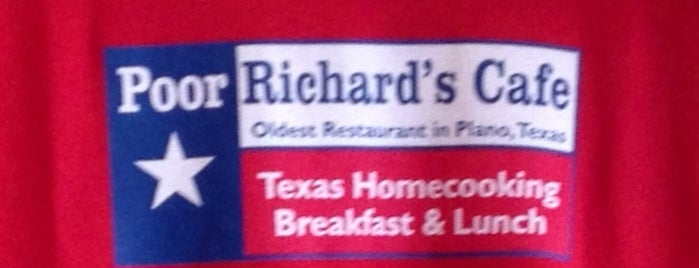 Poor Richard's Cafe is one of The 15 Best Places for Breakfast Food in Plano.