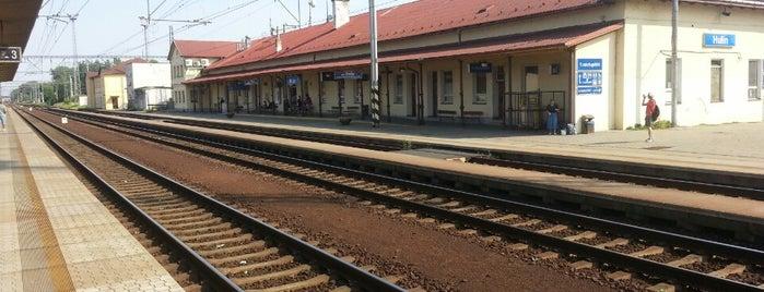Železniční stanice Hulín is one of Železniční stanice ČR: H (3/14).