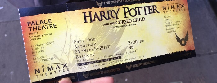 Harry Potter and the Cursed Child - Parts One and Two is one of Harry Potter sights.