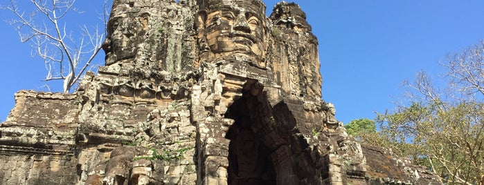 Angkor Thom South Gate is one of Cambodia.