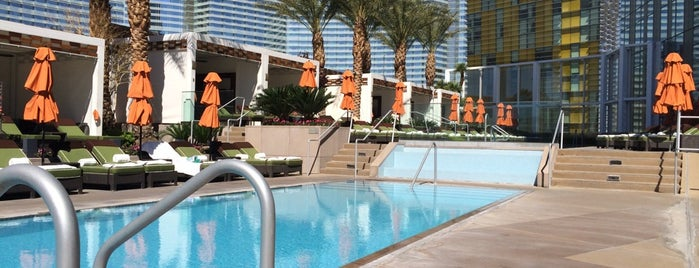 Mandarin Oriental LV Pool is one of The 15 Best Hotel Pools in Las Vegas.