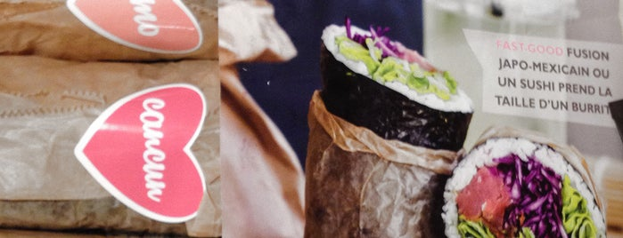 Fuumi Sushi-Burrito is one of Paris.
